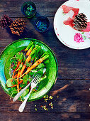 Sweet Carrot, Spinach and Currants Salad