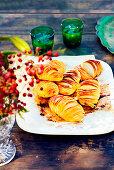 Lemon Hasselback potatoes