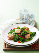 Stir-Fried Five-Spice Fish with Greens