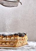 Profiterole cake stack