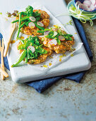 Asian salmon fritters