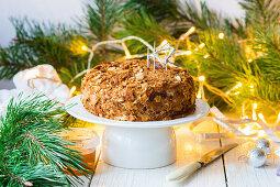 Russian honey cake for Christmas
