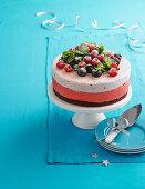 Red velvet ice-cream cake