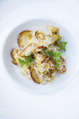 Risotto with Caesar's mushrooms and chervil