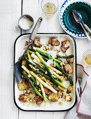 Asparagus and Smashed Potato