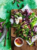Broccolini and Asparagus with Vegan Yoghurt