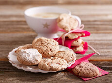 Walnut and chocolate macaroons