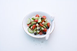Greek country salad with sheep's cheese