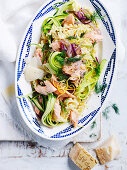 Pasta Ribbons with Smoked Trout
