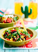 Corn and mixed bean salad