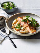 Pan fried ocean trout with cauliflower almond and brown butter