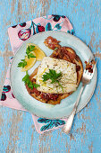 Baked Cod on bread