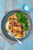 Mushroom and Pepper Omelette