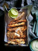 Sesame-Crusted Chicken Goujons