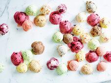 Various ice cream cones