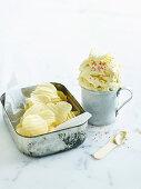 White chocolate potato chip