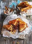 Banana, Chocolate and Almond Toastie
