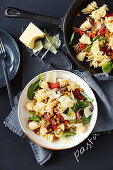 Crispy chickpea and semi dried tomato pasta