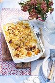 Potato gratin with anchovis