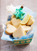 Heart shaped lemon cookies for Christmas