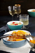 Roast turkey with orange sauce and vegetable couscous