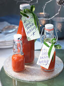 Homemade Christmas ketchup as a gift