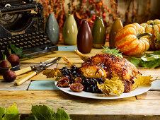 Chicken With Saffron Honey Butter