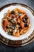 Sicilian pasta with fried aubergines