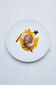 Sautéed foie gras and spiced jus with oranges