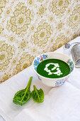 Swiss chard cream soup
