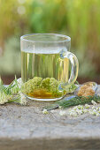 Yarrow tea with cane sugar