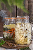 Fermented vegetables in brine