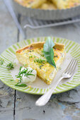 Spring tart with herbs