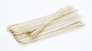 Oriental udon noodles