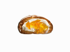 Ciabatta Toast with Butter and Marmalade