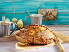Sweet round Easter bread