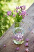 Flowering chives and chive-flower vinegar
