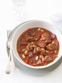 Mediterranean Pork Belly and Chorizo Stew