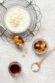 Bowl of Porridge, Apple and Raisin Compote