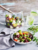 Roasted Mixed Olives and Fetta