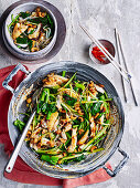 Stir-Fried Fish with Gai Lan and Cashews