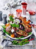 Minted Lamb Cutlets with Beetroot Salad