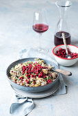 Creamy savoy cabbage with lingon berry compote