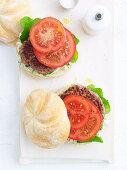 Lamb Burgers with Herb Mayonnaise