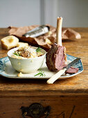 Braised Lamb Shanks with Mushroom Risotto