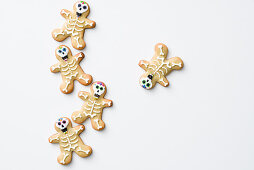 Skeleton biscuits for Halloween