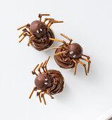 Spider muffins for Halloween