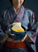 Various ramen noodles and kitchen utensils