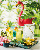 Pineapple and mint cooler