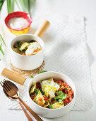 Ravioli fresca - Hot pasta pockets tossed with a fresh salsa-like sauce